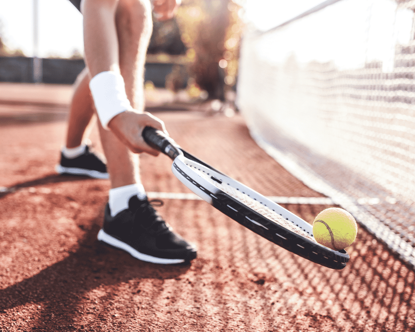 Night Lighted tennis courts