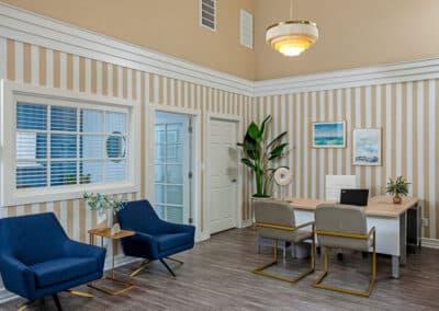 Beachwood Apartments reception area
