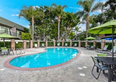 Beachwood Apartments resort style pool side