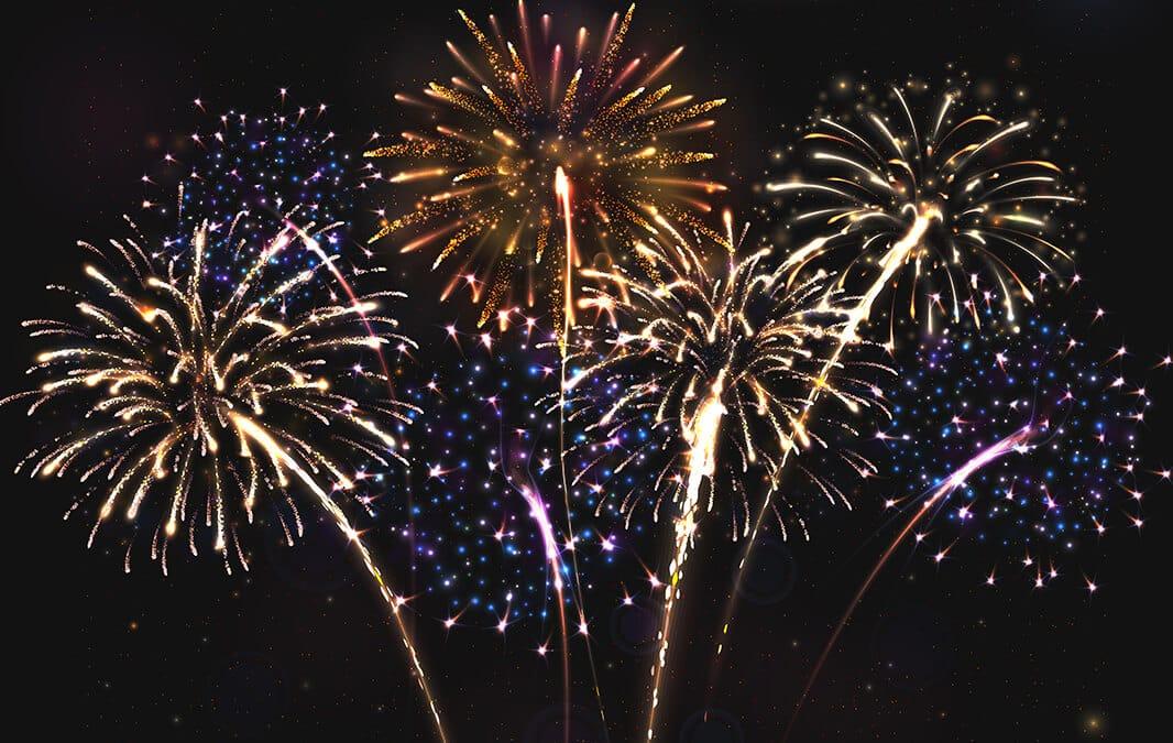 fireworks in Anaheim